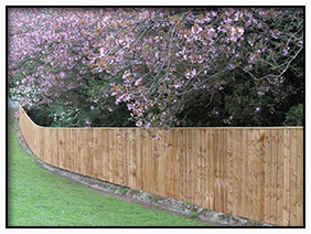 Swale Fencing - Timber fencing